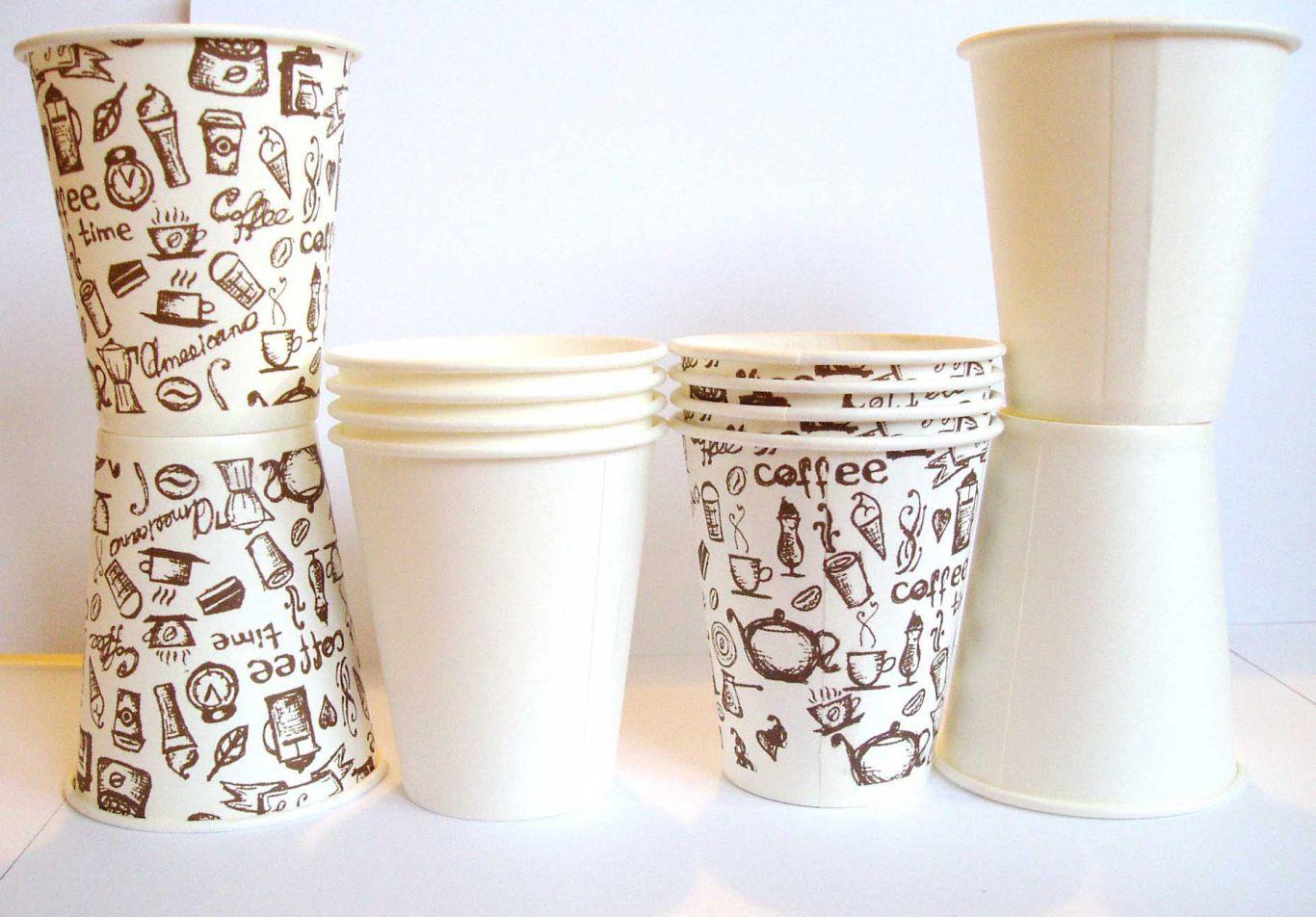 Одноразовые бумажные стаканы для кофе оптом