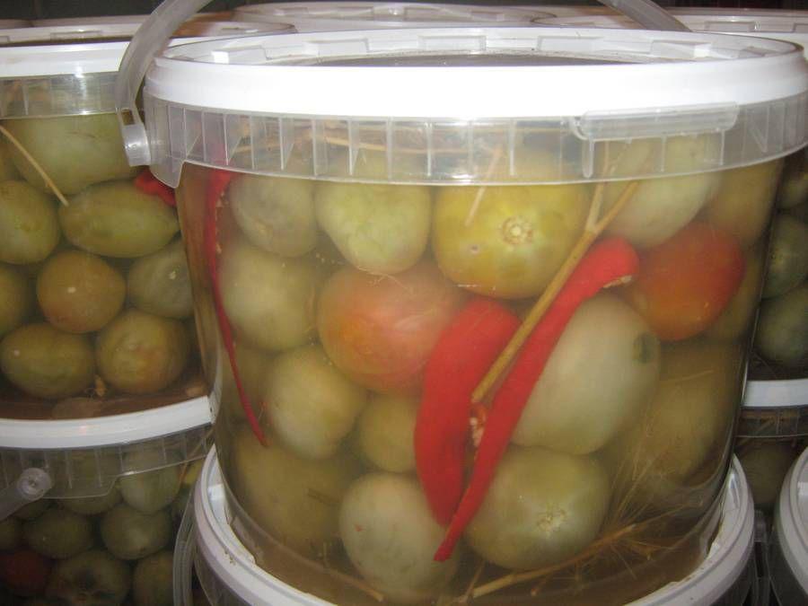 Моченые зеленые помидоры рецепт с фото